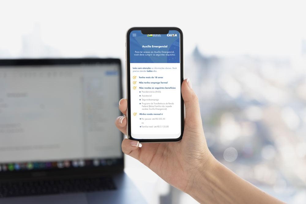 Governo lança aplicativo e site para solicitar o auxílio emergencial