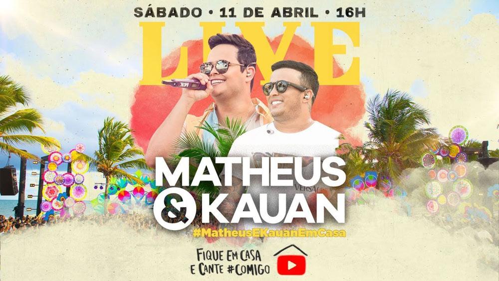 """""""Live"""" de Matheus & Kauan."""