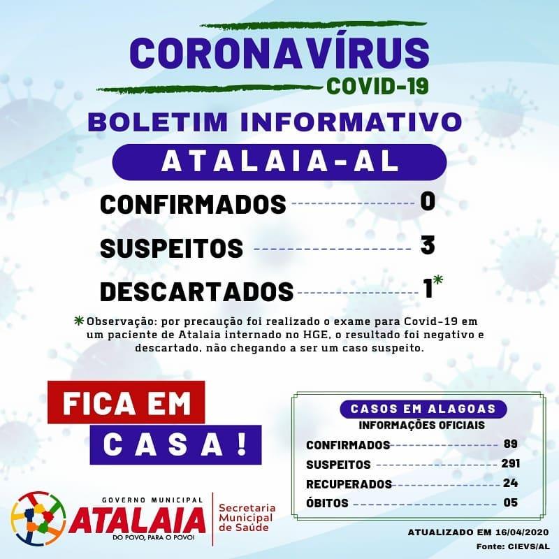 Boletim Informativo foi divulgado na noite desta quinta-feira (16).