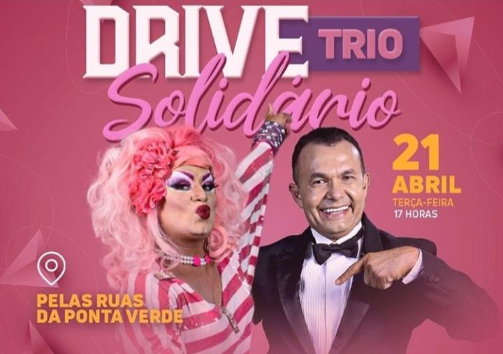 Drive Trio Solidário troca alegria por donativos a pessoas vulneráveis