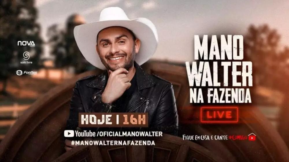Live do Mano Walter. Foto: YoutTube