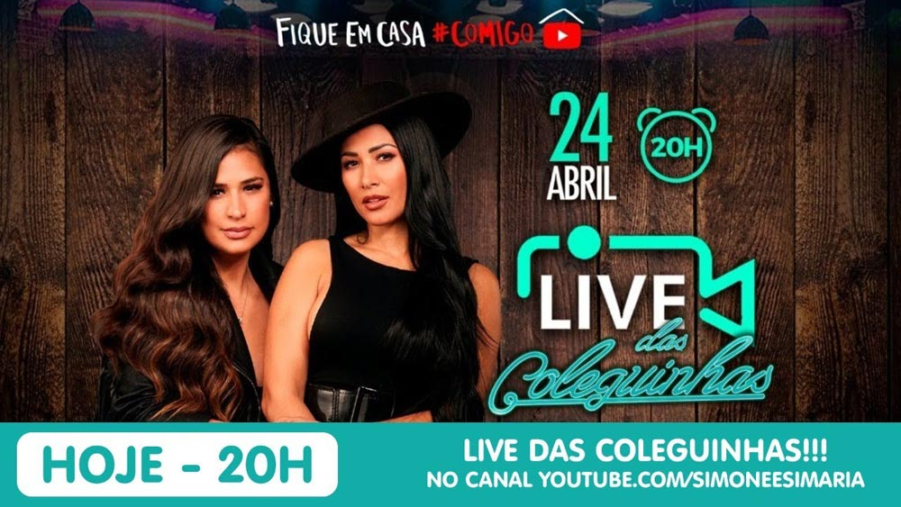 Live Show das Coleguinhas no YouTube.