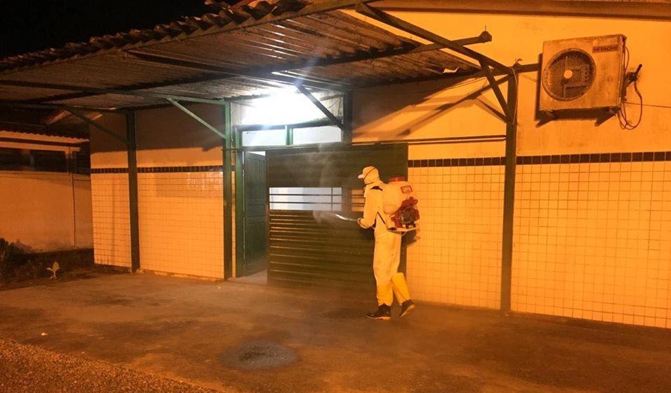 Prefeitura realiza mais uma ação de Desinfecção Sanitária no Hospital João Lyra Filho e na frota de veículos da Saúde