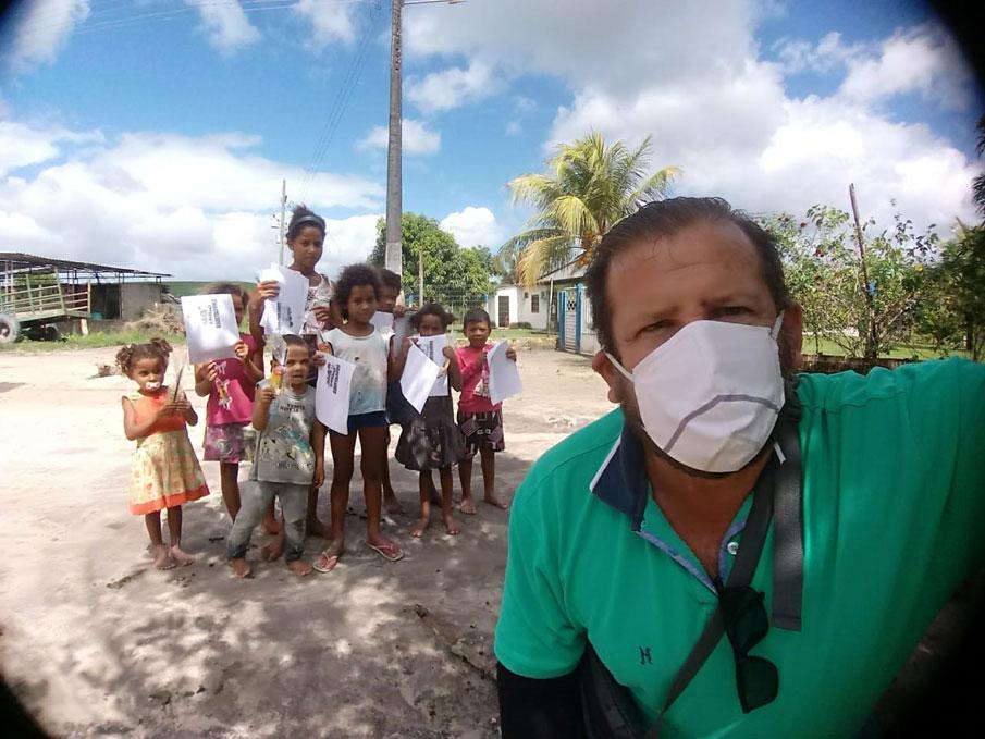 Projeto Trilhas Educativas mantém atividades pedagógicas para os alunos da Escola Francisco Lopes de Farias