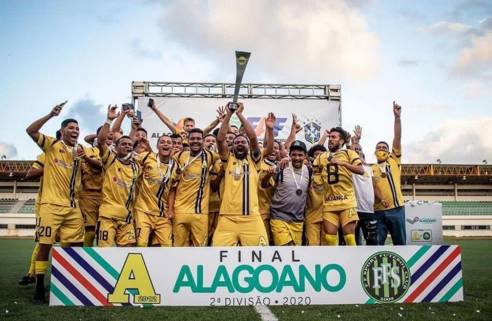Desportivo Aliança é o atual campeão da 2ª Divisão do Alagoano. Crédito: Célio Júnior.