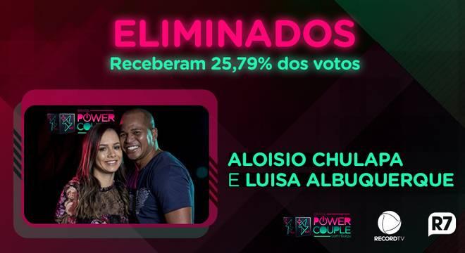 Luísa Albuquerque e Aloísio Chulapa são os primeiros eliminados.