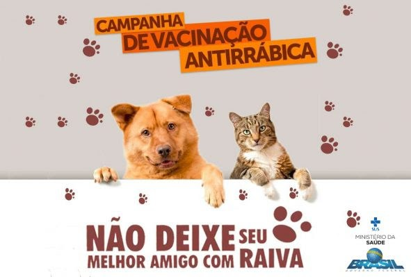 Campanha de Vacinação Antirrábica para cães e gatos começa em Atalaia no dia 01 de setembro