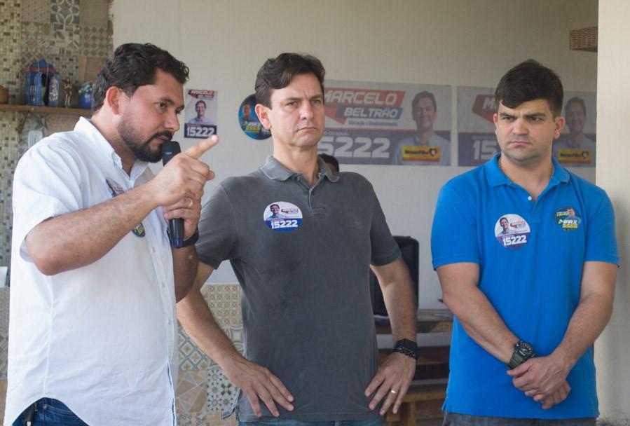 Francisco Batinga reúne correligionários em apoio a Marcelo Beltrão e a Marx Beltrão