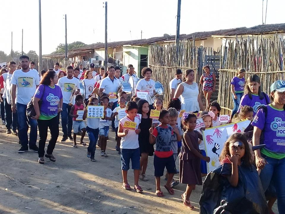 Escola Suzana Craveiro se mobiliza na Semana Nacional de Combate ao mosquito transmissor das doenças dengue, zika e chikungunya.