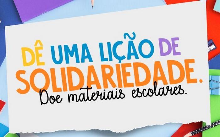 Campanha visa arrecadar bolsas, lancheiras e materiais escolares para crianças carentes de Atalaia