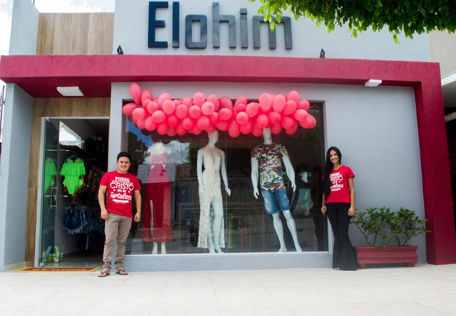 Loja ELOHIM é organizada pelo casal de empresários Júnior Calheiros e Nathalia Tenório.