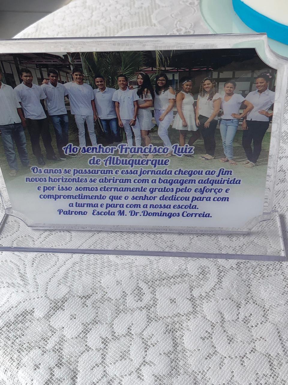 Prefeito Chico Vigário prestigia formatura da turma do 9º ano da Escola Dr. Domingos Correia