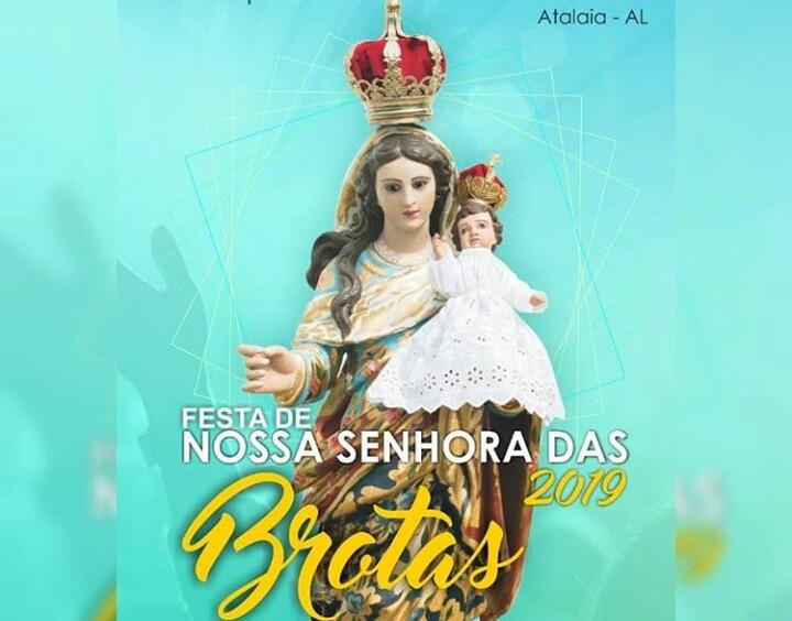 Nossa Senhora das Brotas: Festa da Padroeira de Atalaia tem início nesta quinta-feira (24)