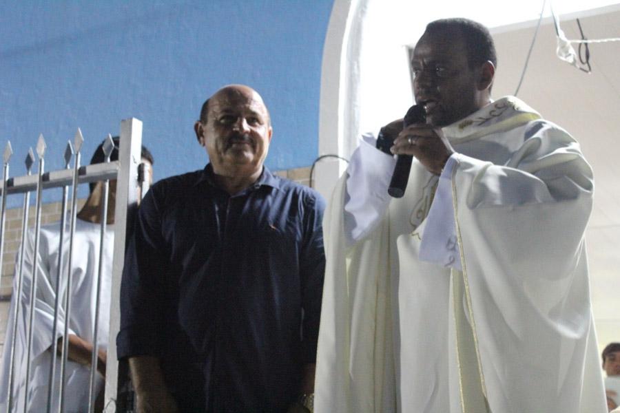 Vereador Marivaldo Souza acompanha o encerramento da Festa de São José, em Porangaba