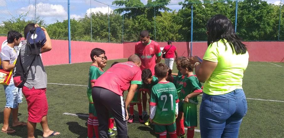 Escolinha Arena Santo Amaro realiza primeiros amistosos com as equipes Sub 7 e Sub 10