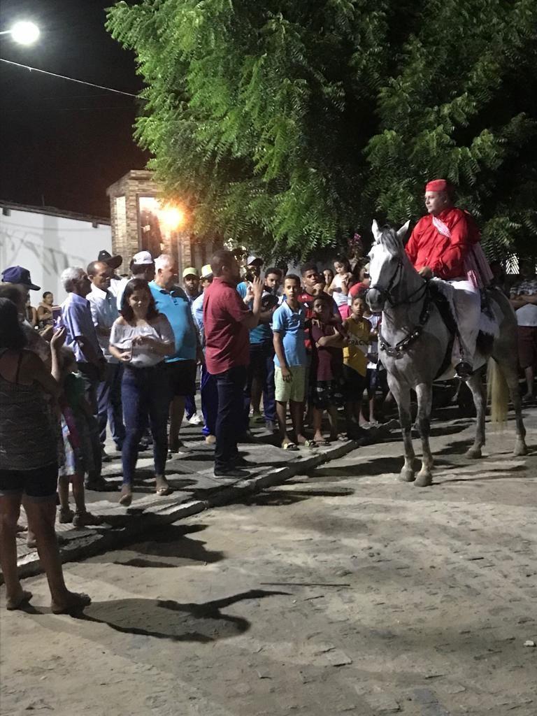 Vereador Marcos Rebollo prestigia a Cavalhada de São José, no Povoado Boca da Mata