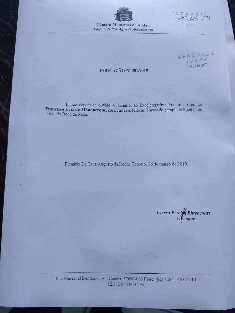 Da Tribuna, vereador Quinho agradece ao deputado JHC pela emenda destinada à Saúde de Atalaia