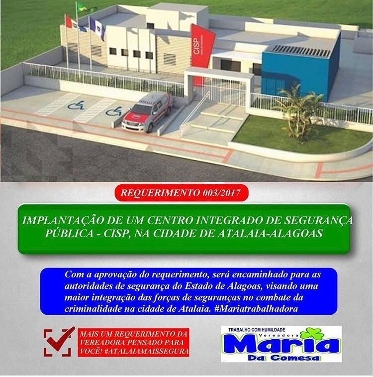Maria da Comesa cobra melhoria na qualidade e no abastecimento de água de Atalaia