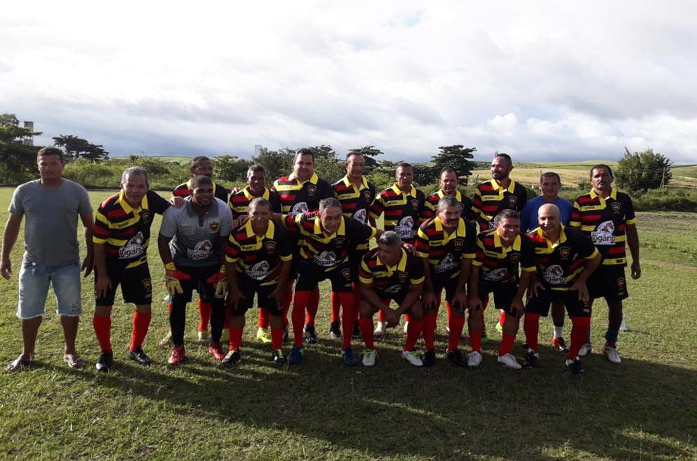 Prefeito Chico Vigário em campo pela equipe do Sport Santo Antônio.