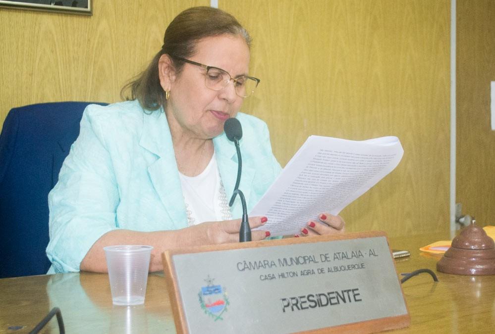 Sessão da Câmara Municipal de Atalaia do dia 25 de junho de 2019