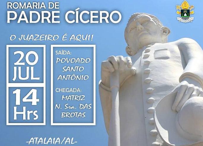 Romaria de Padre Cícero deve reunir 5 mil fiéis em Atalaia no próximo dia 20