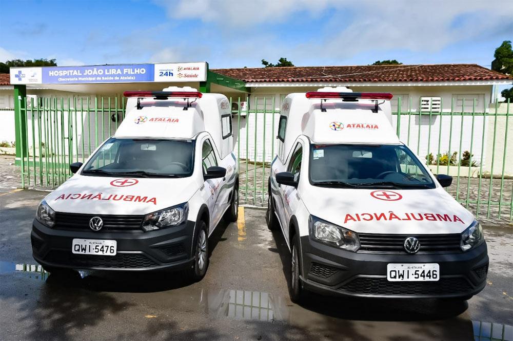 Ambulâncias ficarão a disposição do Hospital João Lyra Filho.