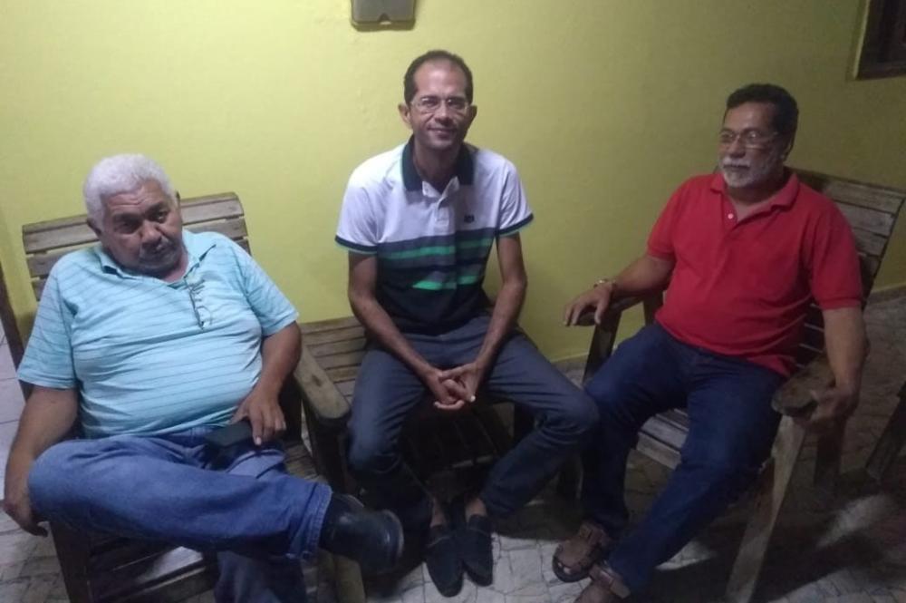 Professor Jorge Nilson, professor e vereador Ricardo Calheiros e professor Dr. Lesso.
