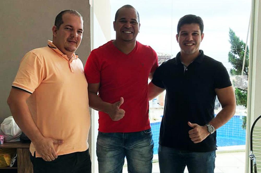 Secretário de Educação Anilson Júnior, secretário de Esportes Aloísio Chulapa e coordenador de Educação Física da Semed Adonai Seixas.