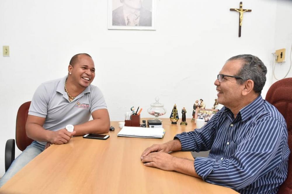 Em reunião, Chico Vigário e Aloísio Chulapa ajustam detalhes do Campeonato Atalaiense de Futebol 2019