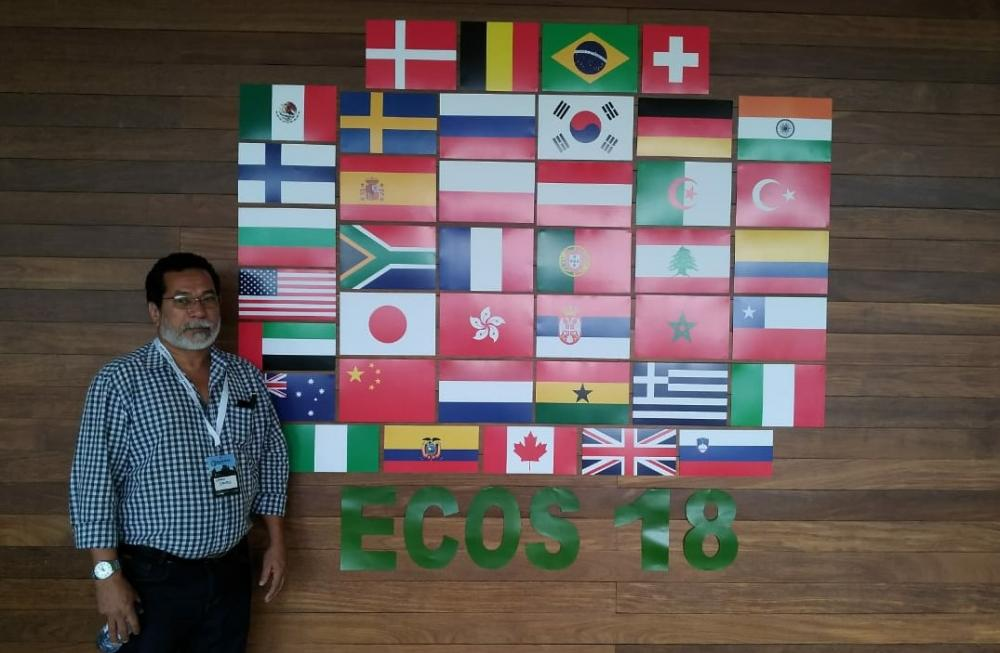 Atalaia marca presença na ECOS 2018, em Portugal, com artigos apresentados pelo Professor Lesso