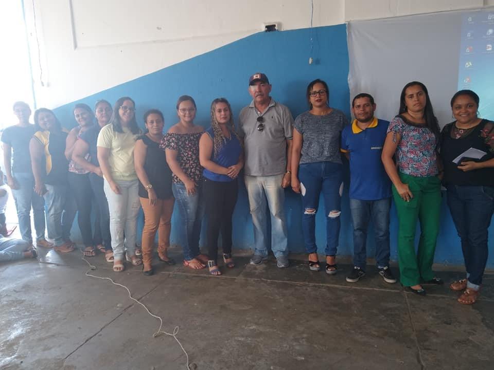 Alunos da Escola Municipal Jabes Francisco acompanham palestra da Defesa Civil sobre o Rio Paraíba do Meio e suas enchentes
