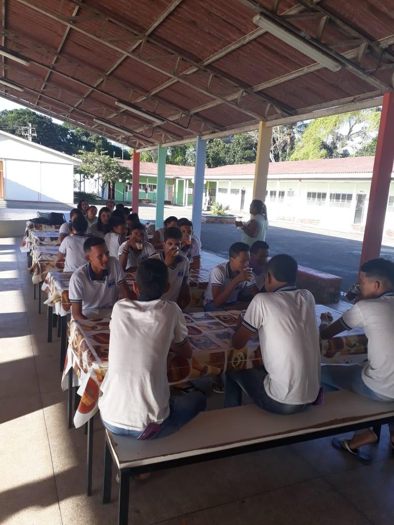 Vereadora Janaína do Cal promove ação da campanha Agosto Lilás e Maria da Penha vai à Escola, no Distrito Branca