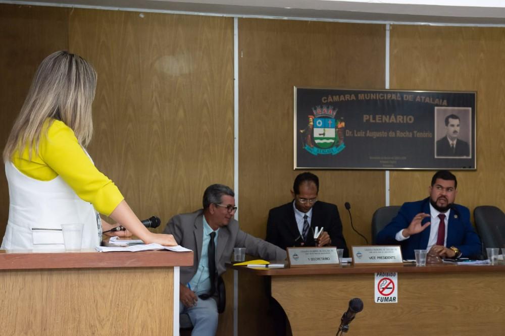 Sessão da Câmara Municipal de Atalaia do dia 3 de setembro de 2019
