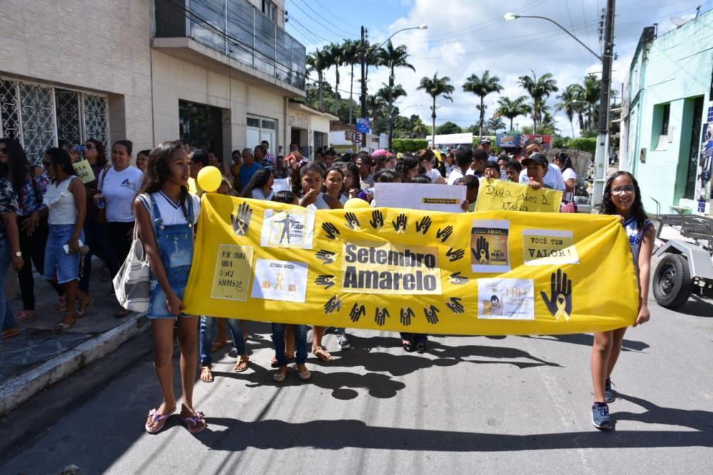 Grande caminhada alusiva ao Setembro Amarelo. Foto: Alberto Vicente.