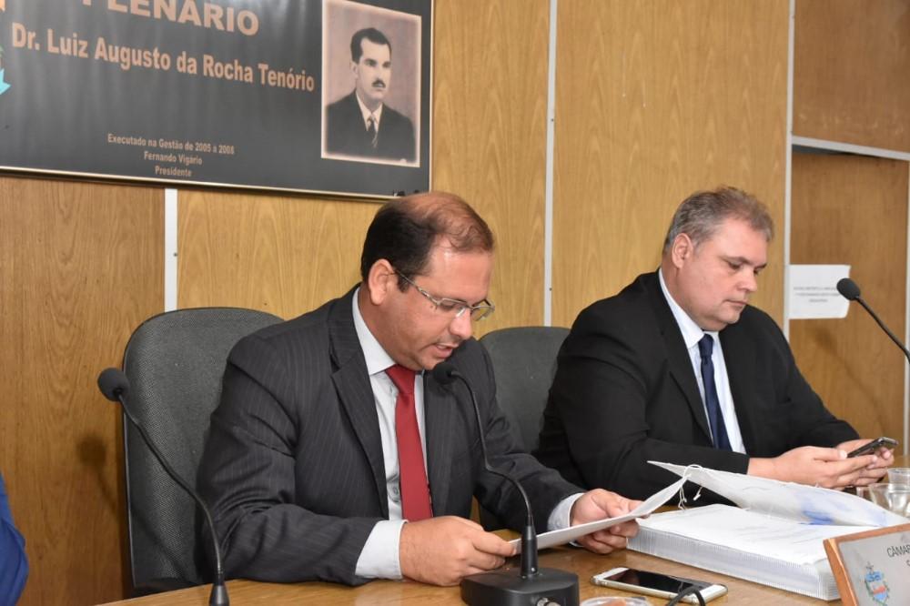 Sessão Ordinária da Câmara Municipal de Atalaia do dia 01 de Outubro de 2019