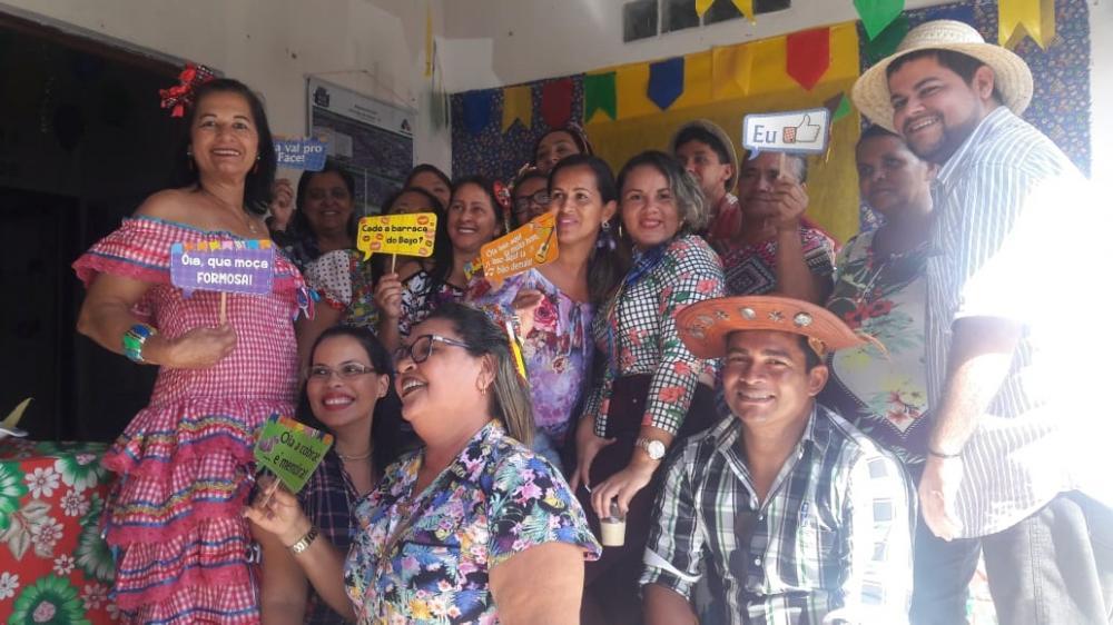 UBS José Paulino realiza animada festa junina para mostrar a comunidade que lazer também é Saúde