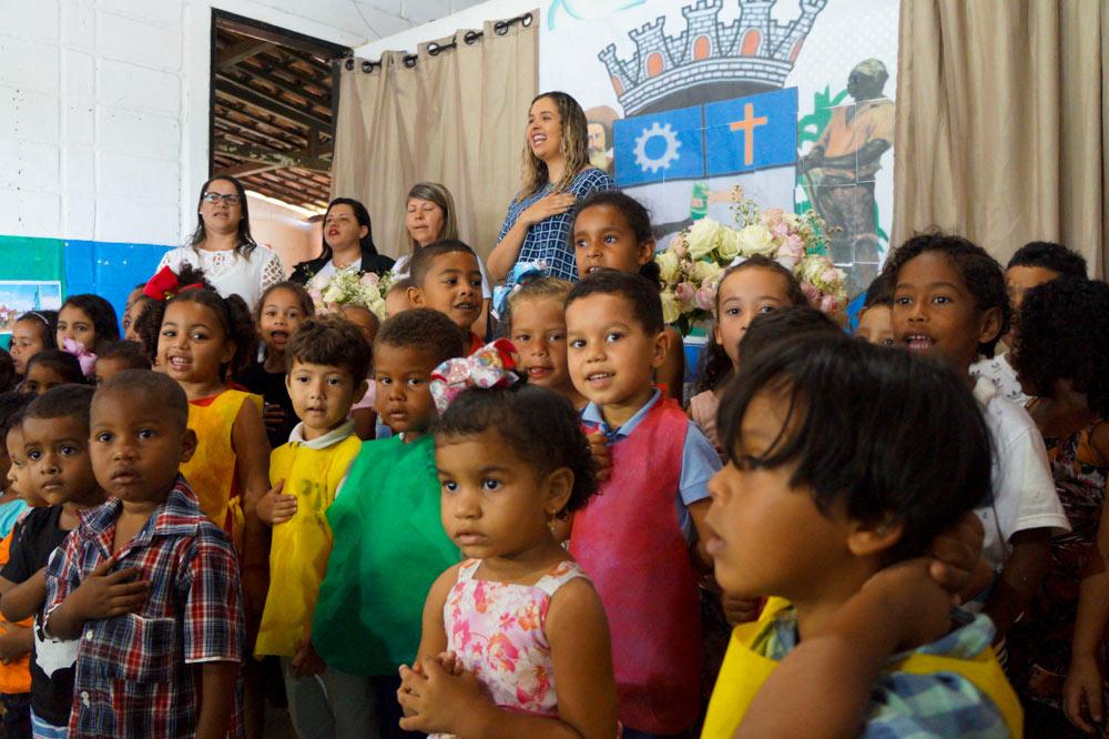 Dia da Patrona na Creche Municipal Maria Alves Brasil.
