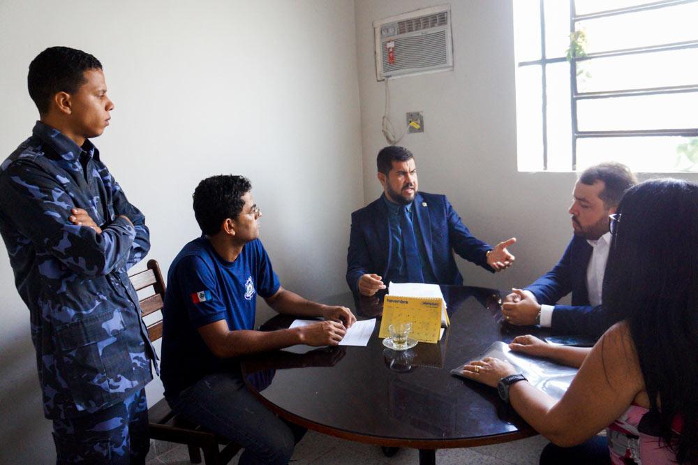 Vereador Marcos Rebollo busca apoio do Setor Jurídico da Câmara, para regularizar aposentadoria e pensão da Guarda Municipal.