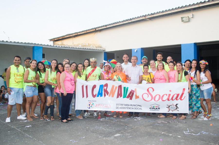 Após o animado desfile, os foliões se concentraram no Clube Social Atalaiense.