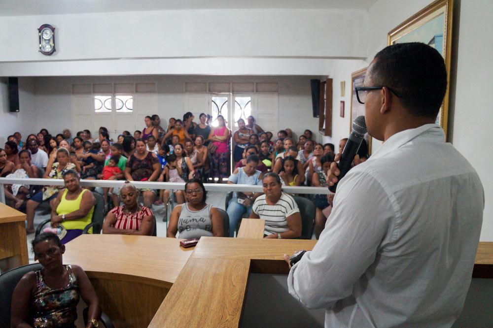 Primeira Reunião Ampliada do Programa Bolsa Família em Atalaia.
