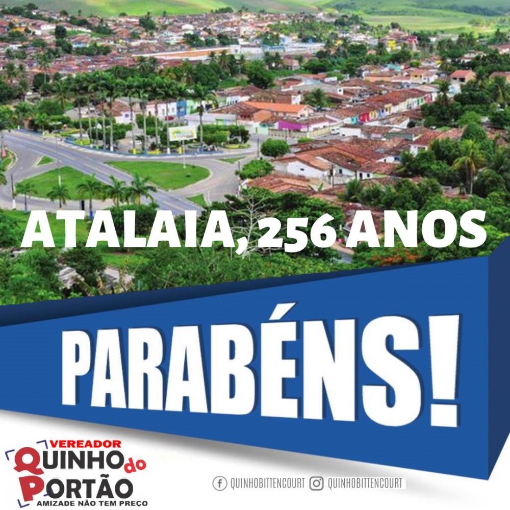 Atalaia comemora 256 anos neste sábado, dia 01 de Fevereiro.