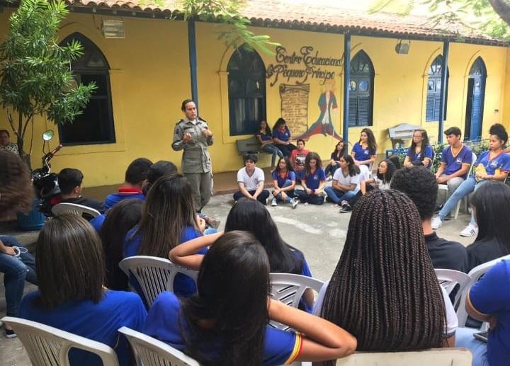 Palestra foi ministrada pela 4ª Cia Independente em Atalaia.
